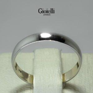 Argolla plana oro blanco