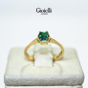 Anillo Oro Esmeralda