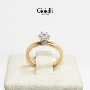 anillo oro rosado 18k