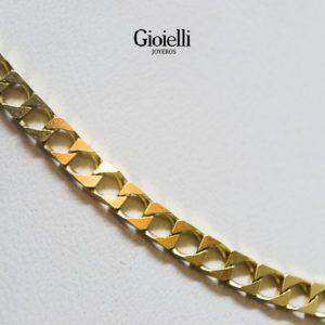 cadena martillada en Oro 18k