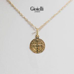 medalla san benito oro 18k