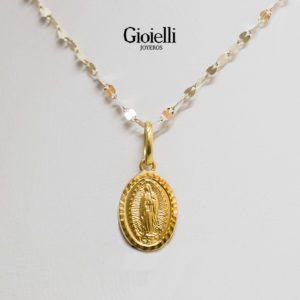 medalla virgen guadalupe oro 18k