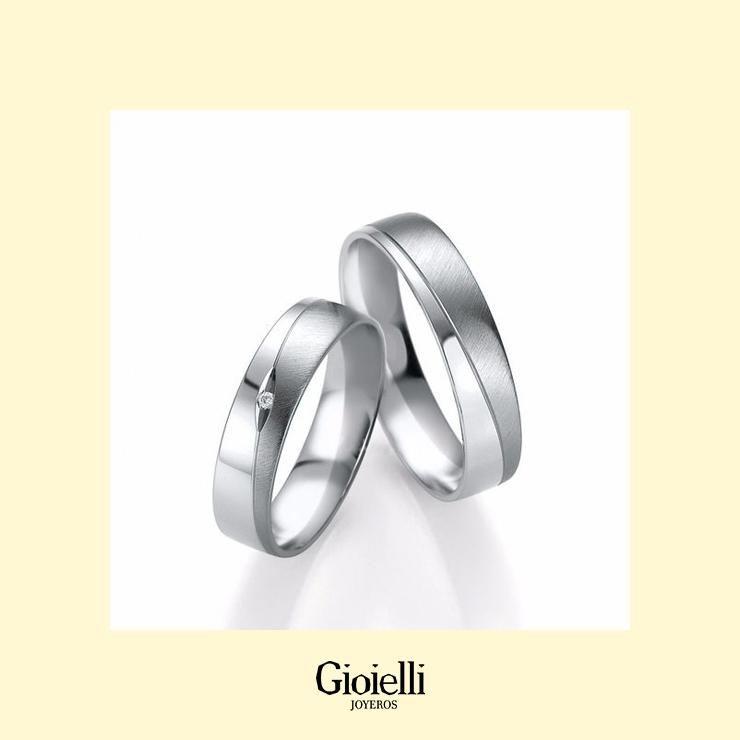 Argollas de matrimonio en Oro blanco 18k