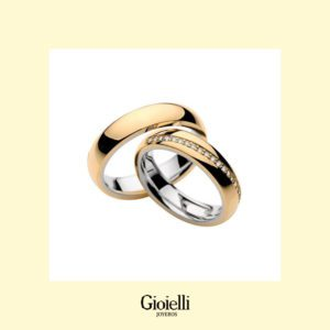 argollas de matrimonio con diamantes en Oro 18k