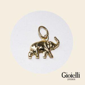 dije elefante en oro 18k