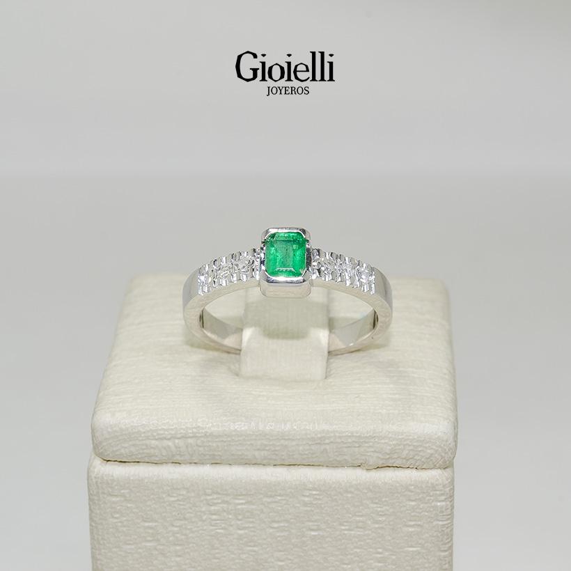 10808ccad951 Anillo de compromiso oro blanco con diamante precio – Joyas de plata