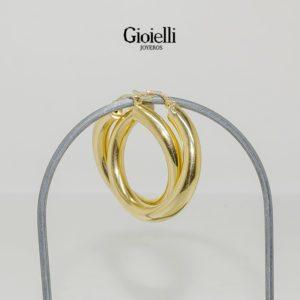 Cadena tejido plano en Oro 18k certificado