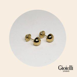 Topos hongo para Bebé en Oro 18k